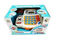 Кассовый аппарат детский игровой набор касса магазина FS-34445  на батарейках, с ЛСД-диспл, свет-звук в коробке