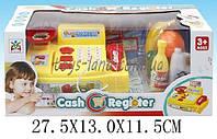 Кассовый аппарат детский игровой набор касса магазина LS820A3-1 (1504215) на батарейках, свет-звук, сканер, продукты в коробке 27,5*13*11,5 см.