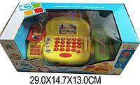 Кассовый аппарат детский игровой набор касса магазина LS820G8-1 (1339158) на батарейках, свет-звук, сканер, калькулятор в коробке 29*14,7*13 см.