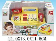 Кассовый аппарат детский игровой набор касса магазина LS820A2-1 (1504213) на батарейках, свет-звук, сканер в коробке 21*13*11,5 см.