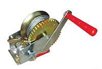 Лебедка рычажная барабанная стальной трос тяговое усилие 450 кг Intertool GT1454