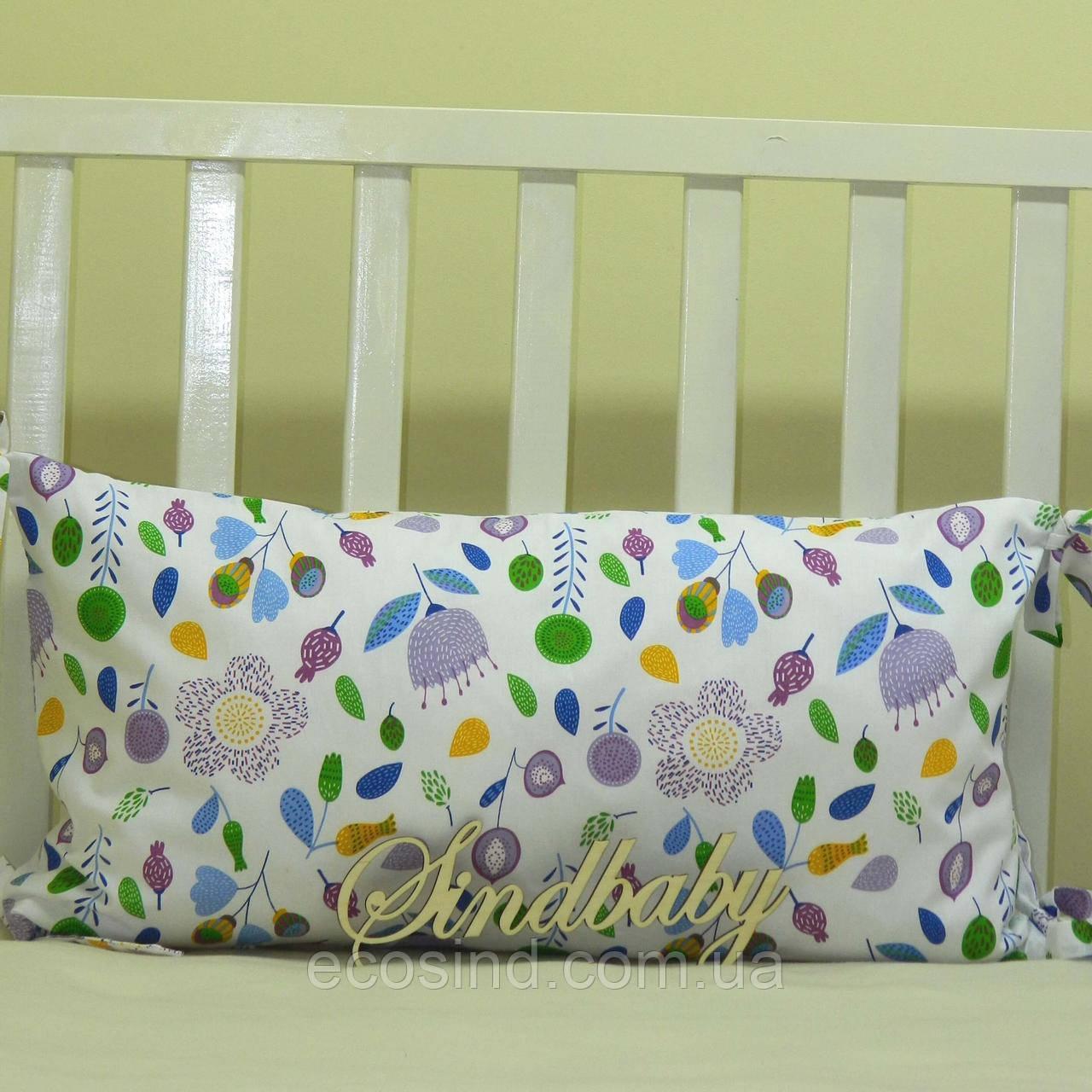 Бортики подушки в кроватку, Подушка 30х60 -38
