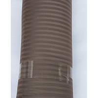 Ткань сатин страйп 1*1 coffee Турция (280 см.)