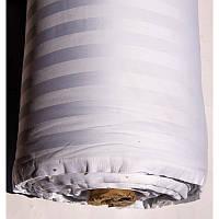 Ткань сатин страйп 2*2 белый Турция (280 см.) 679121