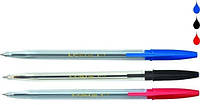 Ручка шариковая Buromax синий тип Корвина Jobmax BM.8117-01