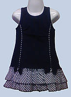 Платье, сарафан для девочки, летнее синее, 24 м