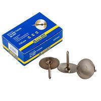 Кнопки канцелярские (Buromax, никилированные, 50 шт., BM.5105)