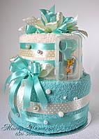 Торт из банных полотенец. Подарок для новорожденного.