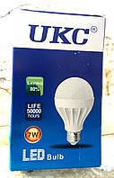 Лампа светодиодная энергосберегающая LED E27 7W (Белый свет) UKC