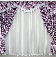Комплект шторы и ламбрекен в зал интернет магазин
