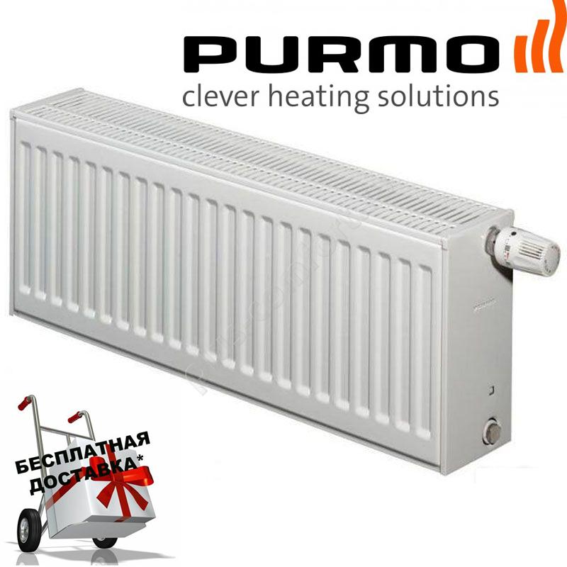 Сталевий (панельний) радіатор PURMO Ventil Compact т33 500x1000 нижнє підключення