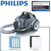 Philips мешки пылесборники, hepa фильтры и насадки щётки для пылесосов