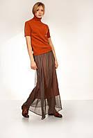 Длинная юбка с эффектом тафты