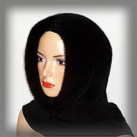 Меховой платок из норки (черный), фото 1