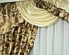 Комплект шторы и ламбрекен из плотной ткани, фото 3
