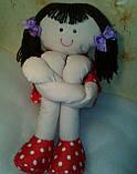 Мягкая игрушка ручной работы Длинноногая Кукла, фото 2