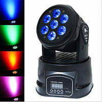 ЦВЕТОМУЗЫКА RGBW Mini Moving Head Light LED Stage Light