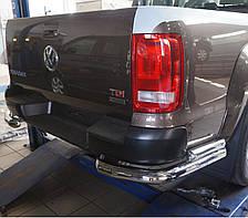 Защита заднего бампера на Volkswagen Amarok (c 2010--) Can Otomotiv d76\60 mm