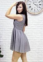 Платье серебряного цвета нарядное с юбкой солнце