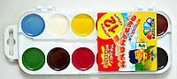 Акварель 6 цветов Мозаика пластиковая коробка без кисти 312048