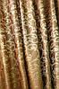 Красивый комплект штор шоколадного цвета с тюлем, фото 2