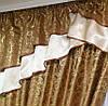 Красивый комплект штор шоколадного цвета с тюлем, фото 3