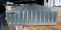 Радиаторный алюминиевый профиль для охлаждения электрооборудования 122х38 / без покрытия.