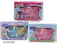 "Детский набор доктора врача ""Frozen"" DocMCStuffins ""PeppaPig"" 6889-153/4/6B 3 вида, 10 предметов, свет, звук, в коробке 42*5*29 см."