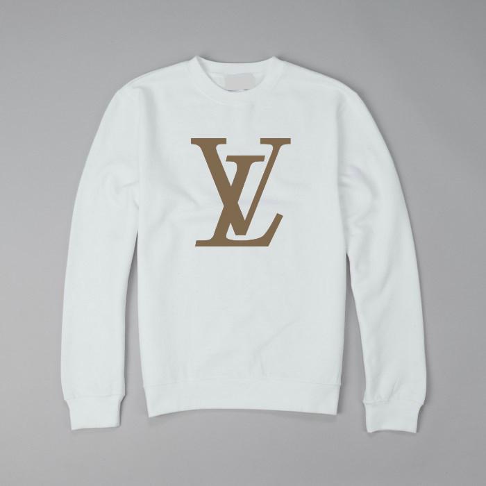 Свитшот Louis Vuitton белый с логотипом , унисекс (мужской,женский,детский)  - 8f45d8f5dde