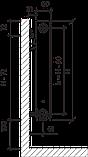 Стальной радиатор PURMO Ventil Compact т11 500x1000 нижнее подключение, фото 4