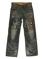 Джинсы, брюки теплые на мальчика осень зима флис 8-14