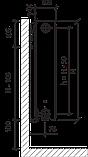 Стальной (панельный) радиатор PURMO Compact т22 600x1000 боковое подключение, фото 4