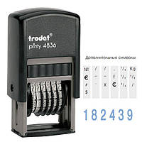 Нумератор Trodat 3.8 мм плст 6 розрядів 4836