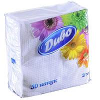 Салфетки бумажные (Диво, 240240, 50шт., белый, сп.дв24х25/50)