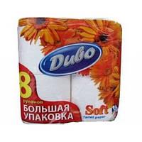 Бумага туалетная Диво макулатурная Soft на гильзе 8рул 2-слойн. белый тп.дв8б