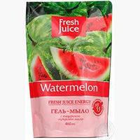 Мыло жидкое Fresh Juice 460 мл дой-пак Watermelon с глицерином e.13273