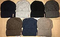 Вязанная зимняя женская шапка