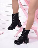Зимние ботинки лаковый нос