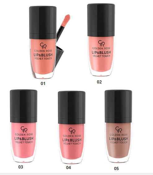Румяна-помада Golden Rose Lip & Blush Velvet Touch