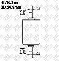 Фильтр топливный ALFA ROMEO 145, 146, 155, AUDI A2, A3 II, CADILLAC (GM) BLS Sedan, CHEVROLET (GM) E | JSASAKASHI