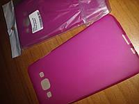 Чехол накладка Samsung A500 A5 2015 розовая панель бампер