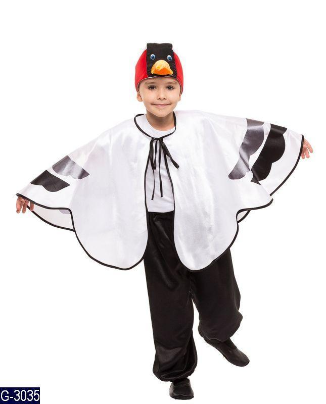 Детский карнавальный костюм АИСТ, ЖУРАВЛЬ, ЦАПЛЯ на 4,5,6,7,8,9 лет, новогодний костюм ЦАПЛИ, ПТИЦЫ, ЖУРАВЛЯ