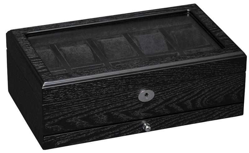 Шкатулка для часов деревянная на 10 отделений Rothenschild RS-808-10-BBVMD