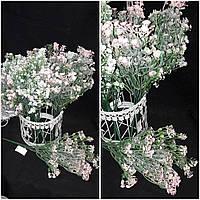 Красивый искусственный мелкоцветик розового цвета, выс. 35 см., 60/50 (цена за 1 пуч. + 10 гр.)
