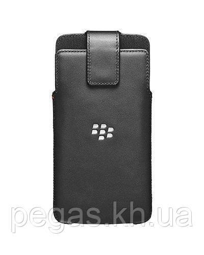 Чехол BlackBerry DTEK60 кожаный черный