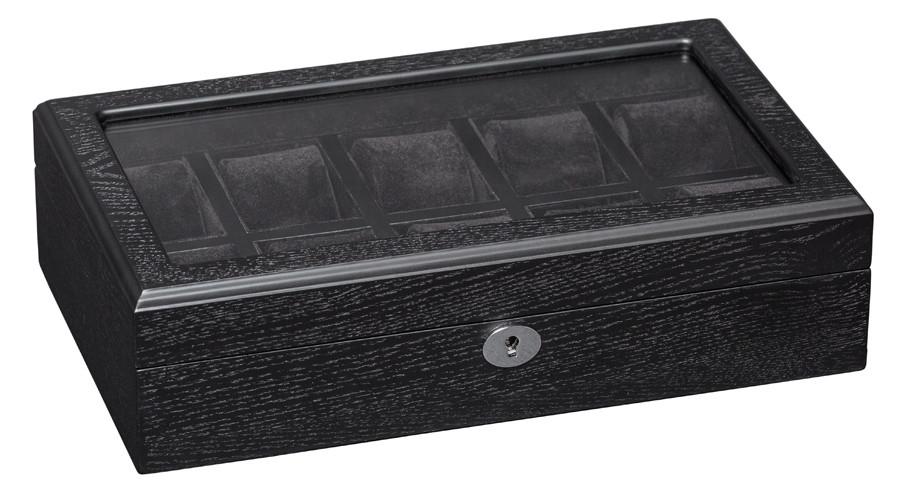 Шкатулка для часов деревянная на 10 отделений Rothenschild RS-808-10-BBVM