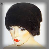 Меховая женcкая шапка из норки с бантом