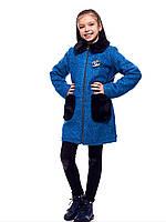 Зимнее пальто детское для девочки с мехом