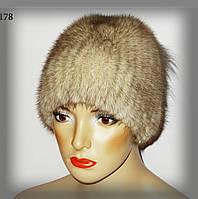 Шапка меховая женская из норки(настрочка), фото 1