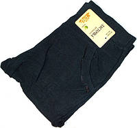 Лосины брючные Термо с карманами синие размер 7XL(60)